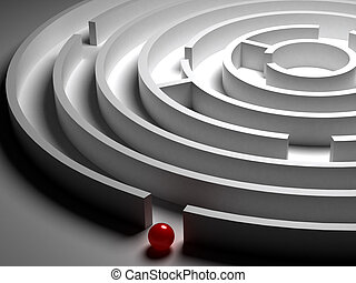 3D  Circular maze - 3D Circular maze on the white background