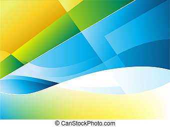 Flowing Form Background - Flowing shapes abstract background...
