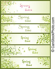 Spring horizontal banners