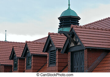 Carriage House and Dormers Closeup - Carriage house closeup...