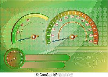 Speedometer needle