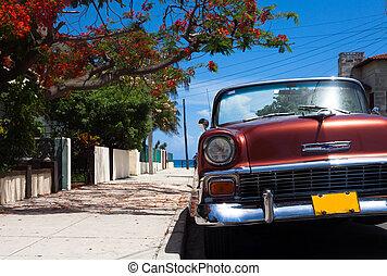 Automobile, americano, Avana, classico,  cuba