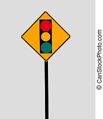traffic signal sign - traffic signal warning sign...