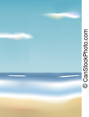 Beach - Illustration of a beach. Available in jpeg and eps8...