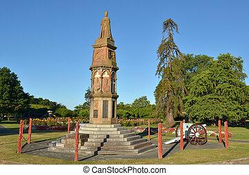 Arawa war memorial in Rotorua - New Zealand - ROTORUA, NZL -...