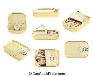 facile, ouvert, sardine, boîte, à, les,...