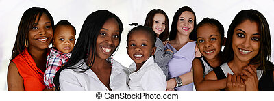Mothers With Children - Group of young mothers with their...