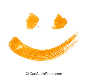 Smile drawn with a brush strokes - Smile or smiley face...