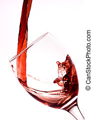 Pouring Red Wine - Red wine being poured into a wine glass.