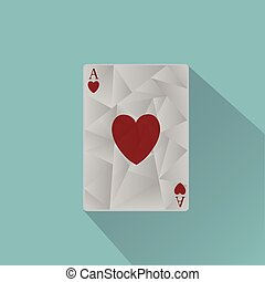 Vector ace playing card