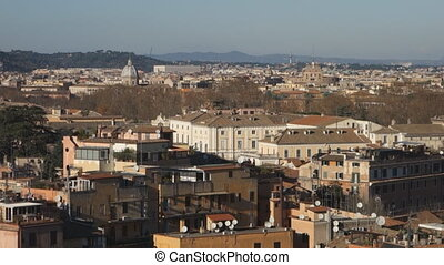 Overview of Rome - Rome overview from Janiculum hill