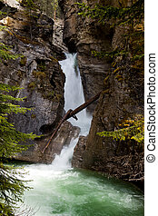 Scenic Johnston Canyon and Waterfalls in Banff NP - Okanagan...