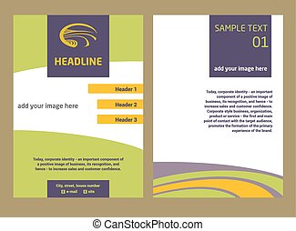 Brochure Flyer design vector template in A4 size. The logo...