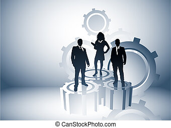 Power Management - Team leaders business concept with people...