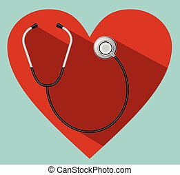 Stethoscope - Vector - Stethoscope with heart eps 10