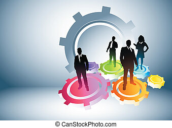 Gears of Success Business concept vector illustration