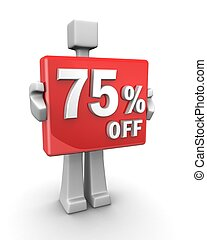 Seasonal sales 75 pecent off for shopping discount - Sales...