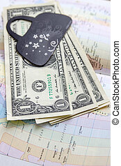 money on the map of america