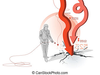 Borrowed Mistakes - Conceptual economic illustration A...