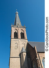 Church tower in Holland - Church tower in dutch village...