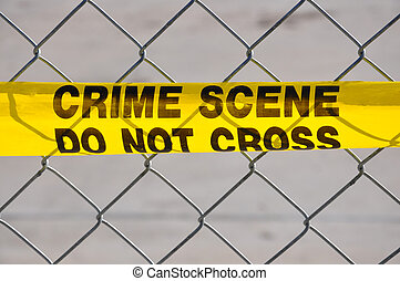Close up of Crime Scene Do Not Cross - Closeup of Bright...