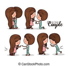 Romantic day design, vector illustration - Romantic design...
