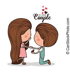Romantic day design, vector illustration - Romantic design...