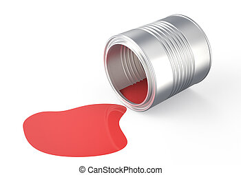 spilled  red  paint 2