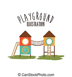 Playground design, vector illustration - Playground design...