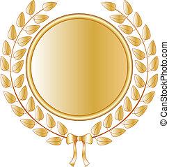 Laurel vector wreath - Golden laurel vector wreath