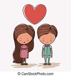 Love design, vector illustration - Love design over white...