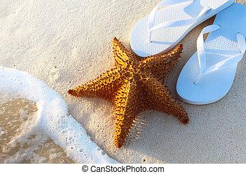 Art Summer holidays on a tropical beach
