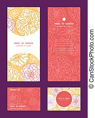 Vector warm day flowers vertical frame pattern invitation...