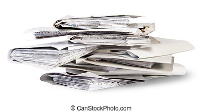 Pile of files in chaotic order