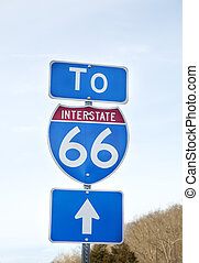Route 66 sign in Virginia - Route 66 sign in Northern...