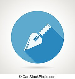 Flat vector icon for construction trowel - Single round blue...