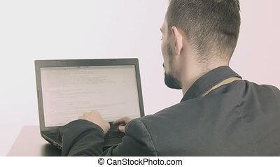 Computer programmer - Business man computer programmer...