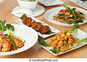 Thai Food Dishes Variety