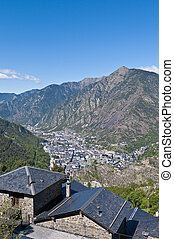 Aerial view of Andorra-La-Vella at Andorra