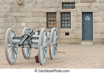 Halifax fort - Cannon in historic Fort George in Halifax...