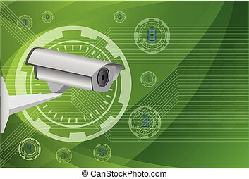 camera cctv ,Illustration eps 10