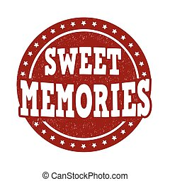 Sweet memories stamp - Sweet memories grunge rubber stamp on...