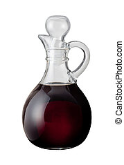 Balsamic Vinegar isolated on a white background