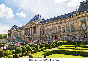 The Royal Palace in Brussels in a beautiful summer day