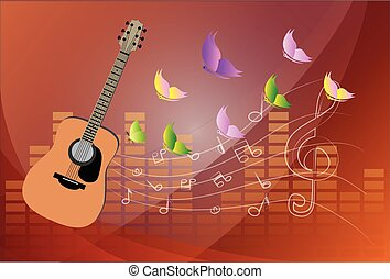 vector, guitarras,