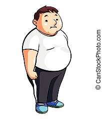 Fat Man Cartoon Illustration