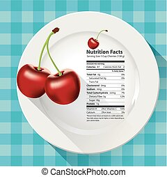 Nutrition facts cherries - Vector of Nutrition facts...
