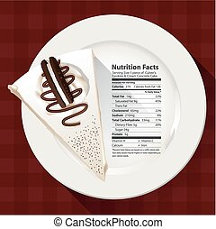 Nutrition facts of cake - Vector of Nutrition facts of...