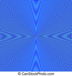 Geometric Abstract Background - Hypnosis Concept - Blue...