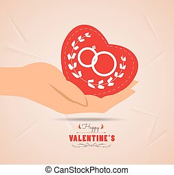 valentine day hand holding a heart